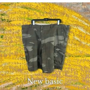 True Nation Mens Multicolor Camouflage Flat Front